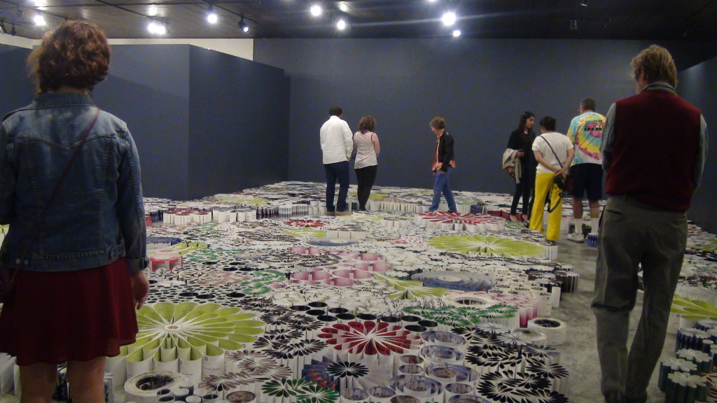 papellibrium large scale paper installation by orna feinstein
